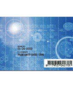 OV-chipkaart Anoniem Achterkant