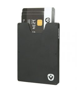 valenta card case aluminium black