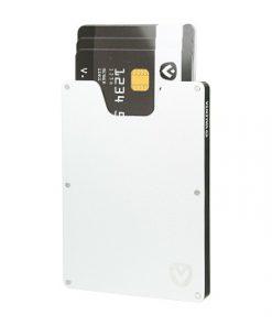 valenta card case aluminium silver