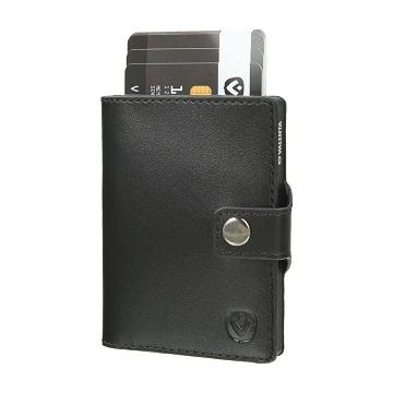 valenta card case black black