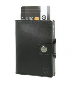 valenta card case black silver