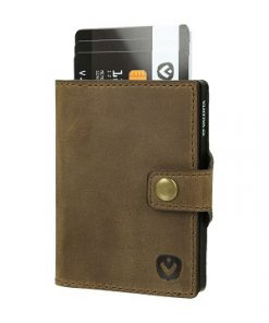 valenta card case brown