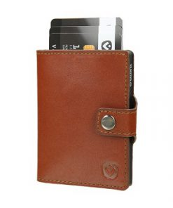 valenta card case cognac