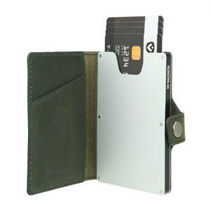 valenta card case green