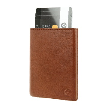 Valenta Card Case Pocket Luxe Cognac